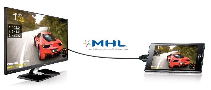 Cách kết nối điện thoại với tivi LG qua MHL