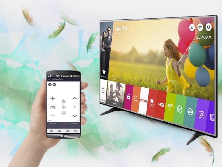 Điều khiển tivi bằng ứng dụng LG TV Plus