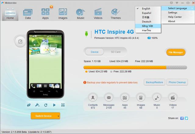 phần mềm kết nối điện thoại với máy tính