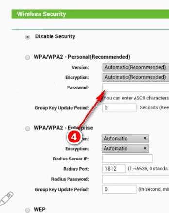 Cách đổi mật khẩu wifi bằng đt 6